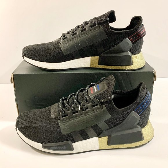 Adidas Shoes Nmd R1 V2 Blackgold Mens Size 10 Sneakers Poshmark